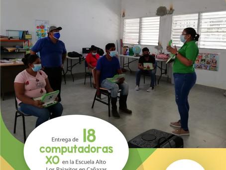 Primera vez se entrega computadoras XO para Escuela Altos de los  Pajaritos en Cañazas