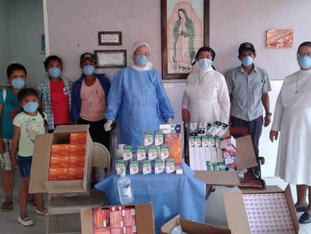 Donaciones entregadas a Centro Misionero Virgen de Guadalupe en el Bale de Ñürüm.
