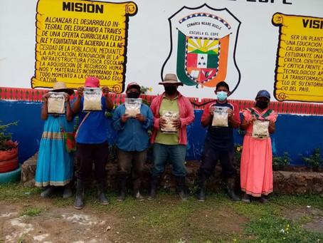 1512  bolsas de bolsas de arroz fortificadas 1300 bolsas de alimentos para comunidades de  Cañazas.