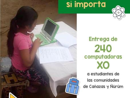 Entrega de 240 computadoras XO para los niños en Cañazas y Ñürúm.