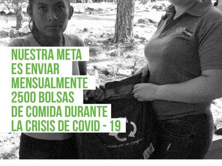 Nuestra meta como #Proniñezsolidaria es enviar 2,500 cajas de comidas con alimentos