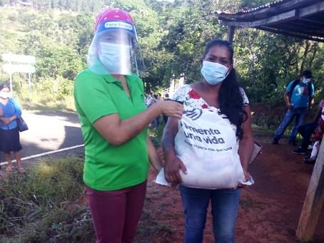 725 bolsas de alimentos entregadas en Cañazas - Provincia de Veraguas