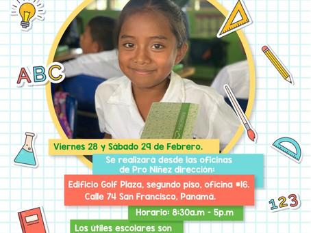 Voluntariado el 28 y 29 de Febrero - Ayúdanos armar los útiles escolares de los niños de Cañazas.