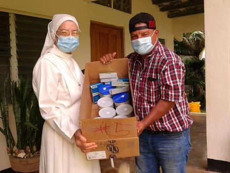 Centro Misionero Virgen de Guadalupe recibe medicinas y leches para pacientes con cáncer en el Bale.