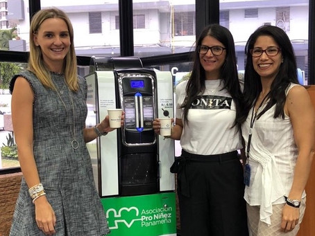 Gracias a todos los que tomaron café en el Banco General en el 2019 por su donación a Pro Niñez