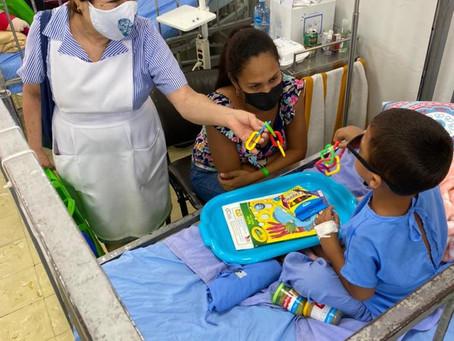 Entrega de Kits de Estimulación Temprana al Hospital del Niño