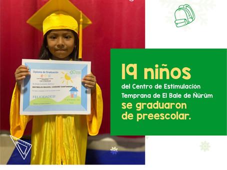 ¡Felicidades a los 19 niños del CET por su graduación de preescolar 2020!