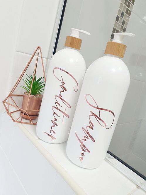 1L Bathroom Bottle Set