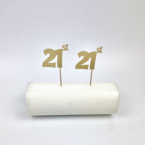 Set 12 numbered cake toppers