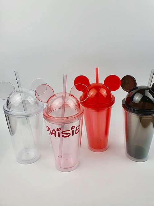 Acrylic Mickey Tumbler | 450ml with straw