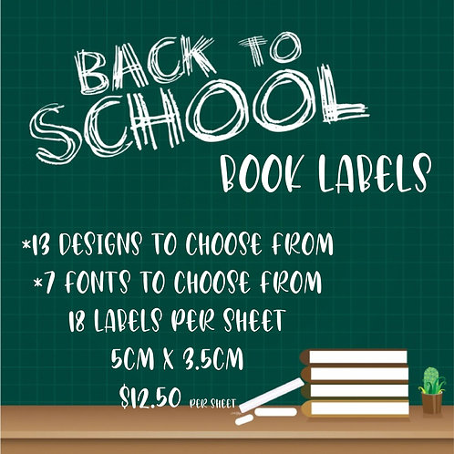 Personalised Book Labels  - QTY 18