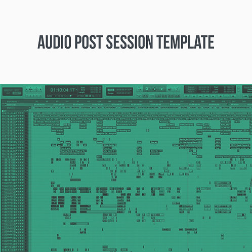 Audio Post Session Template