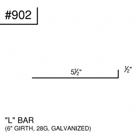 Ideal L Bar #902- Galvanized