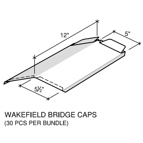 """Ideal Wakefield Cottage Roof Cap 18"""" Girth # 910- 29 Ga"""