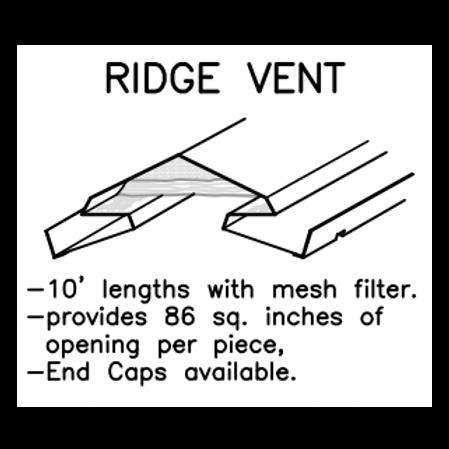 Ideal Ridge Vent #206- 26 Ga