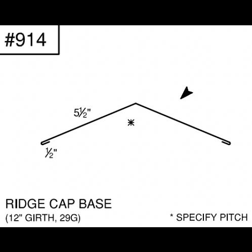 "Ideal Ridge Cap Base 12"" Girth # 914"
