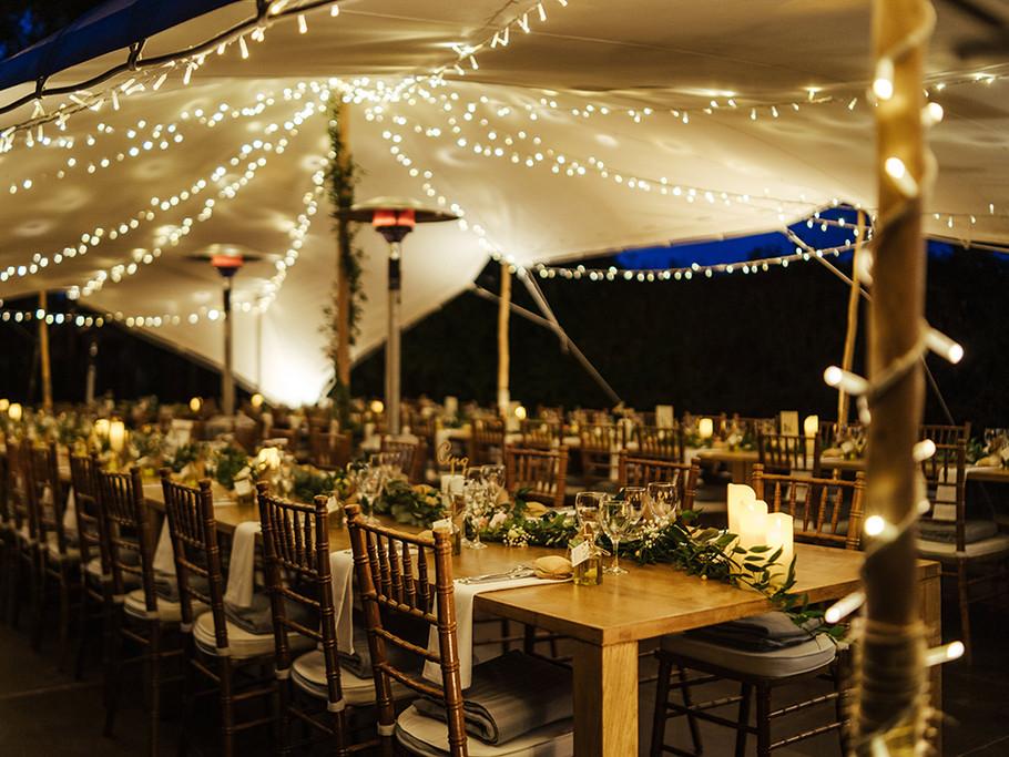 Mariage sous une tente étoilée
