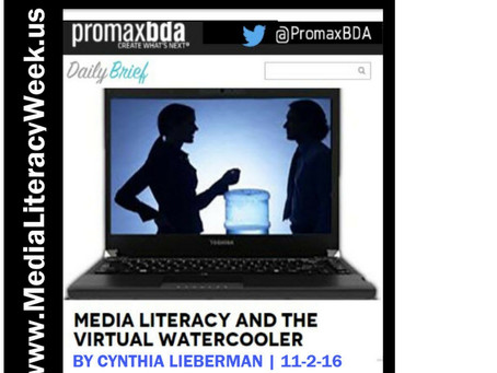 Media Literacy and the Virtual Watercooler
