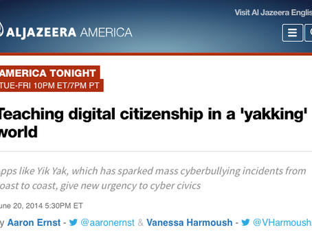 Cyber Civics Featured on America Tonight!