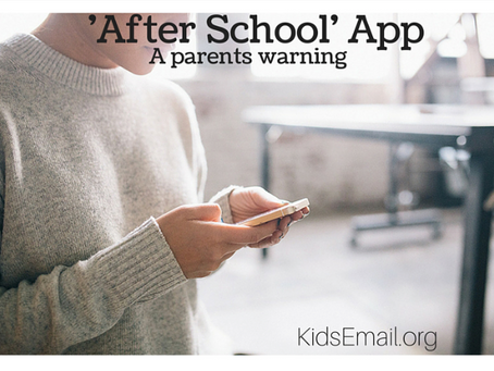 'After School App'- Yet Another App for Parents to Know About!