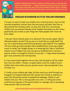Random Acts of Online Kindness Activity