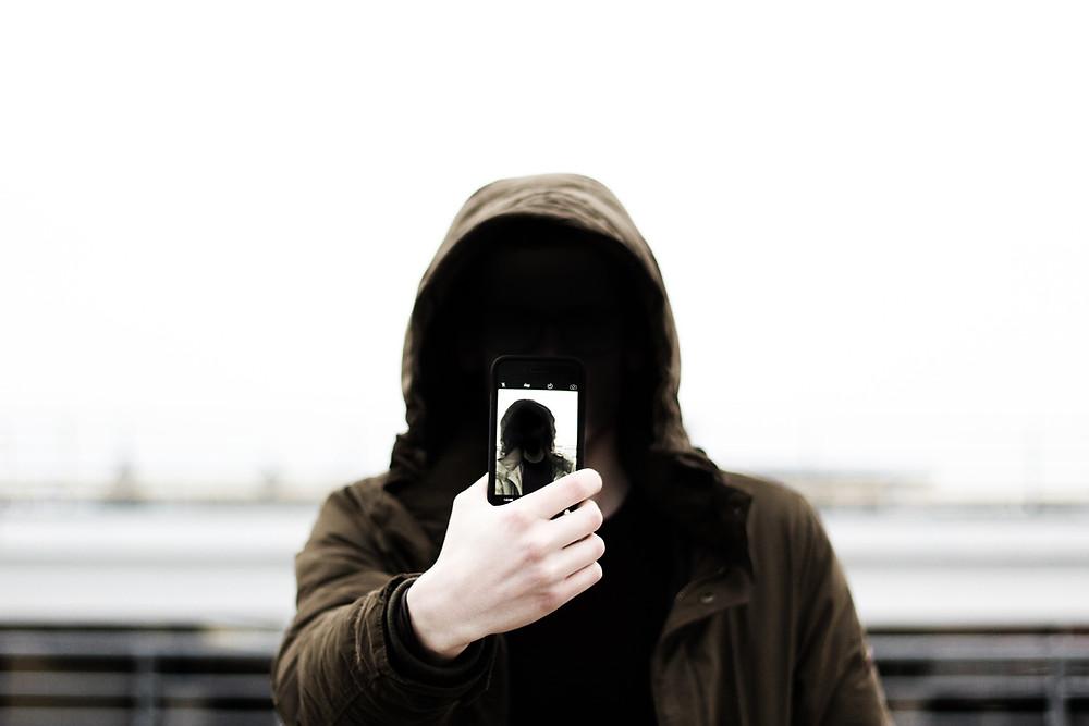 Student taking selfie