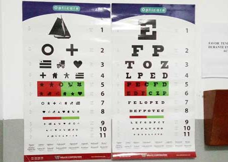 Medición de la agudeza visual.