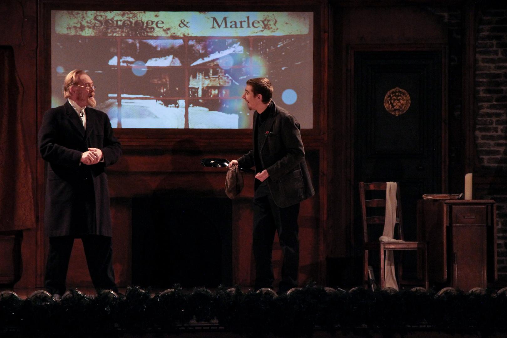 Scrooge and Bob Cratchet