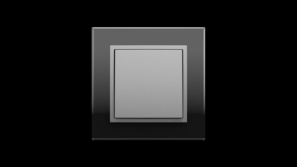 Чёрное стекло/Алюминий