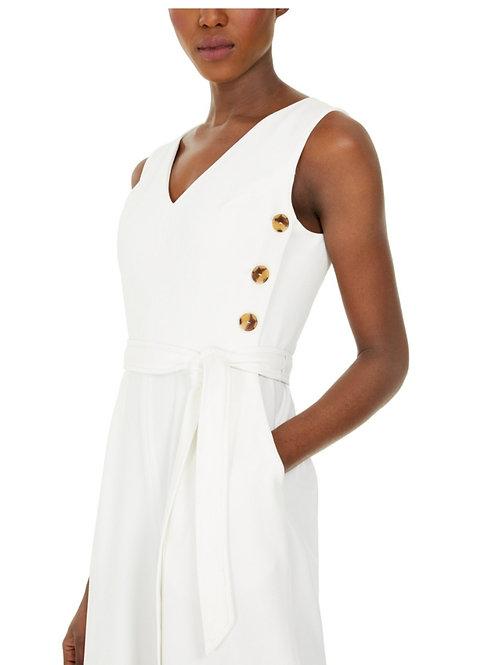 Calvin Klein buttoned White Jumpsuit