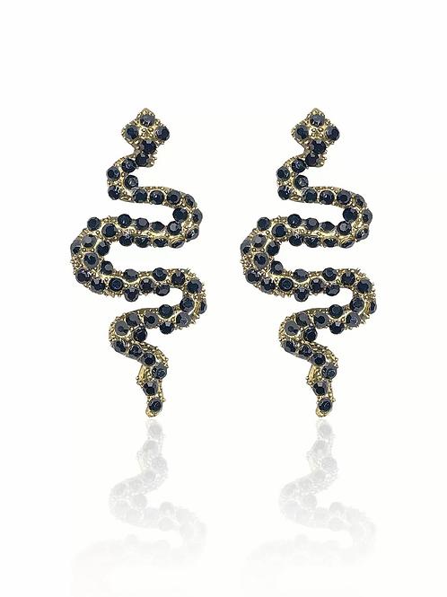 evening snaky earrings