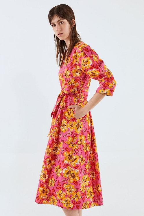 Poplin Big flowers dress