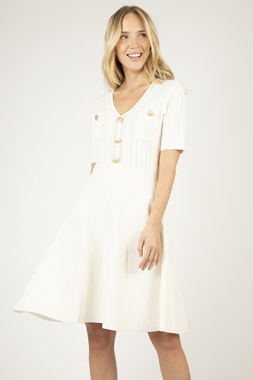 Ribbed luxus buttons style dress