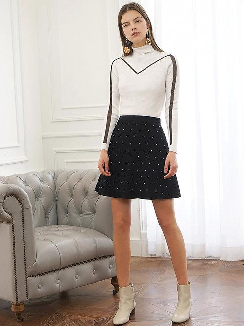 Bead skirt mid rise