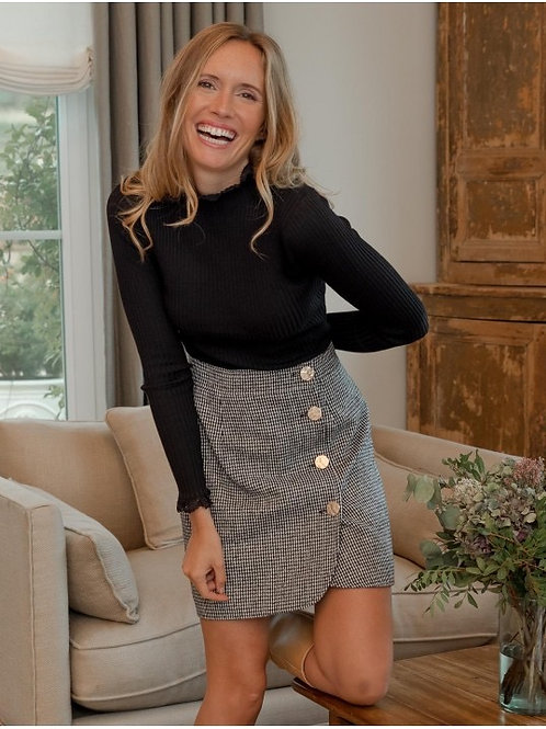 Venice buttoned skirt black