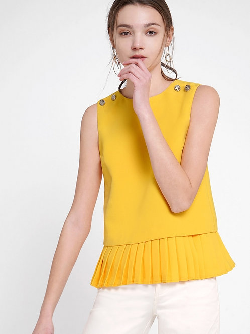 Buttoned luxus sleeveless top