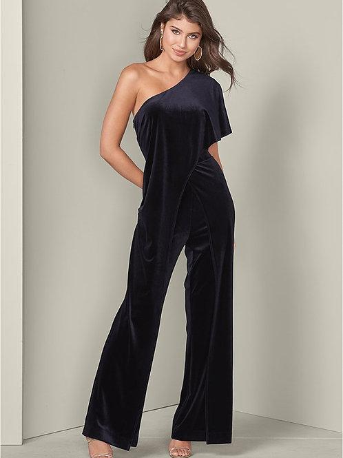 Velvet black jumpsuit