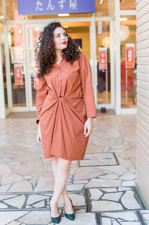 camel autumn relaxed style dress | one size
