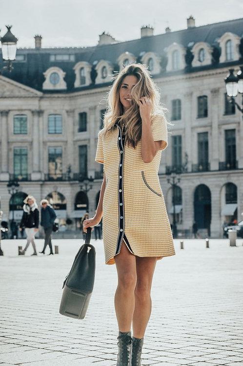 Valencia yellow knit dress