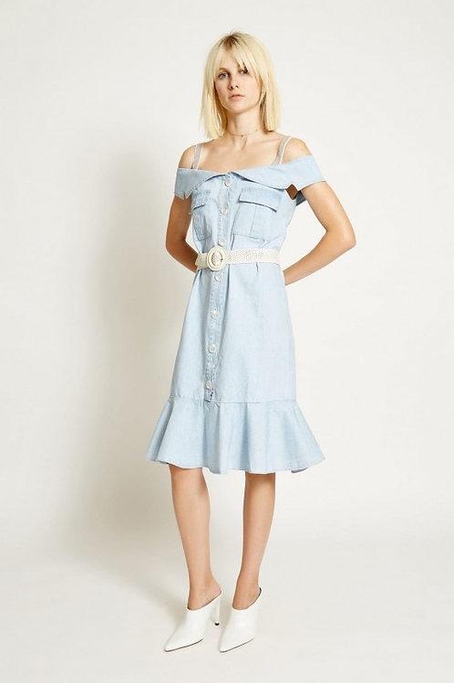 Capri dress denim blue