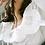 Thumbnail: white Eyelet puff sleeve crop top