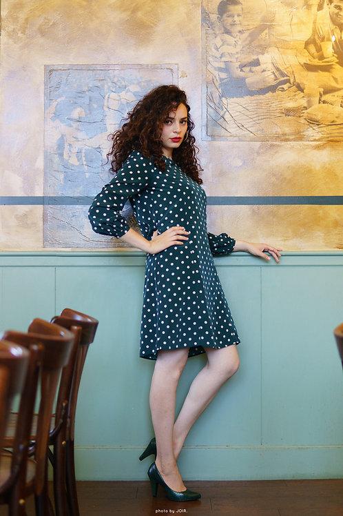 vintage style Sacramento green dress.