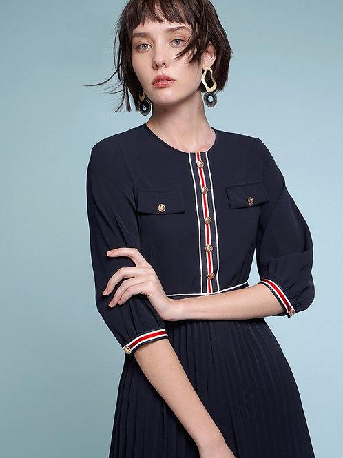 Navy Parisian charm dress