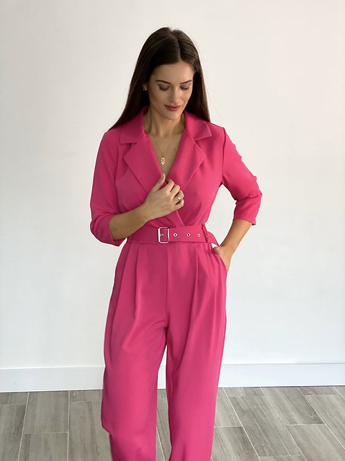 Marca belted jumpsuit pink