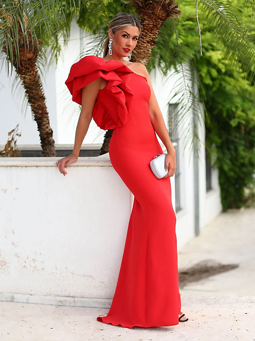Long big ruffles Dress