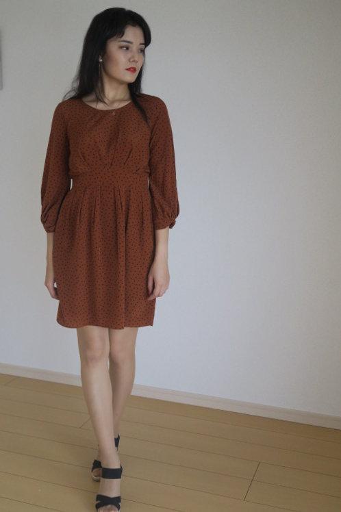 classy and elegant camel color dress