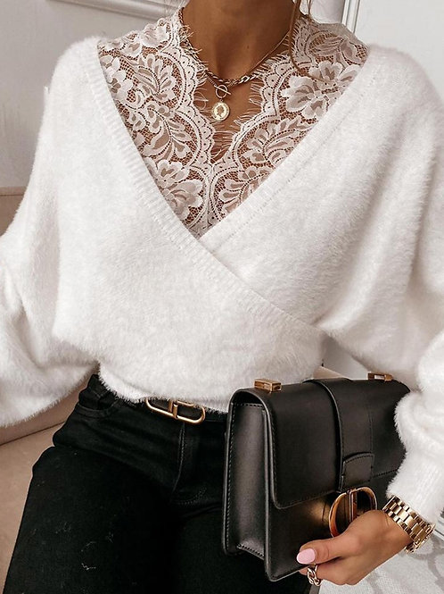 Lace knitted jersey
