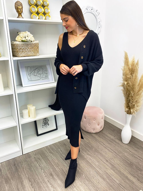 Set Knitted jersey and dress