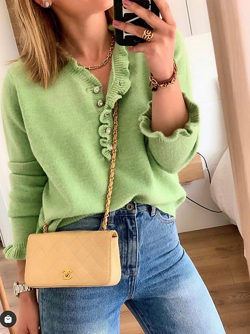 Jewelry buttoned jersey green