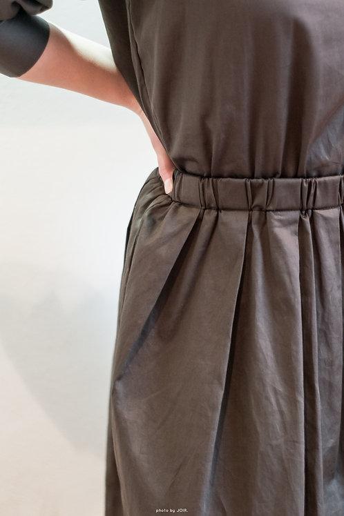 midi length khaki green dress | L size